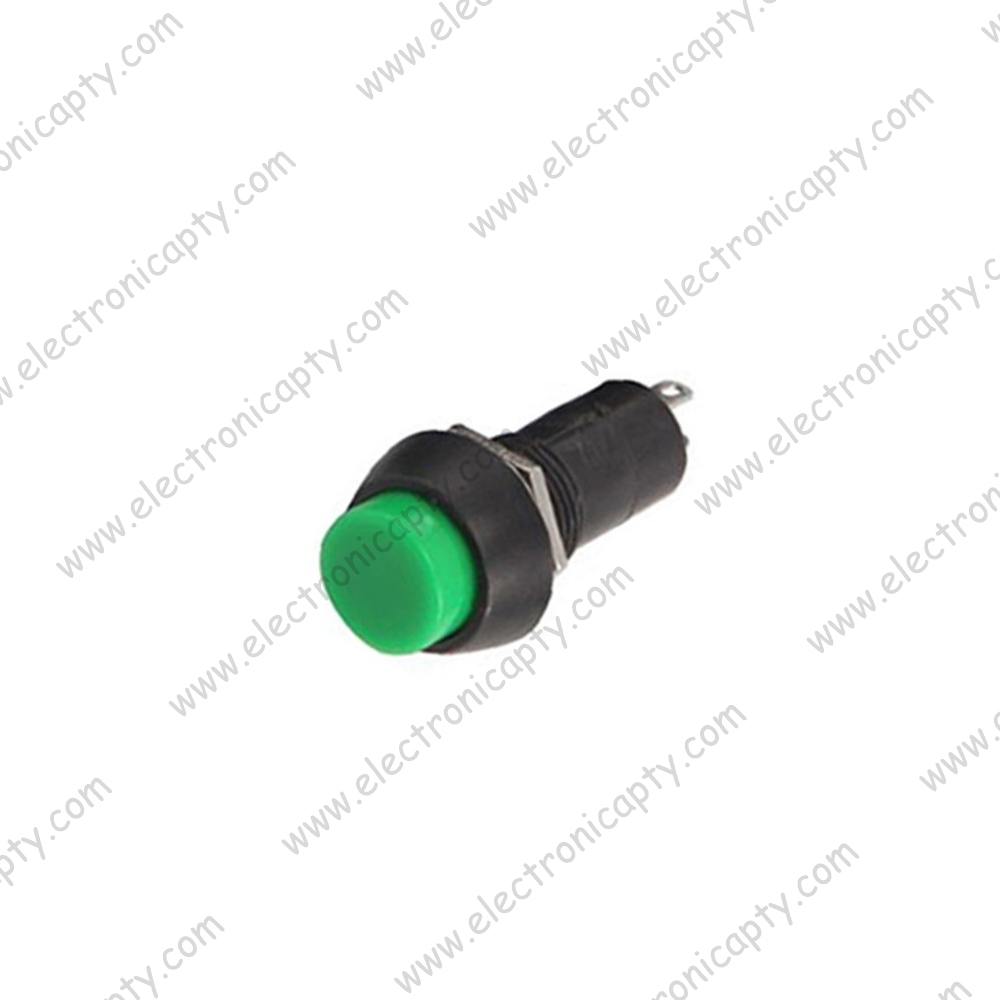 Boton interruptor ON-OFF Verde 12mm