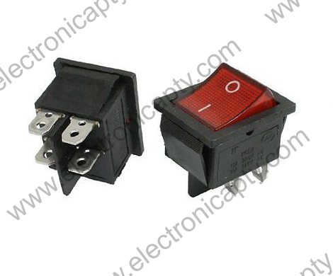 Interruptor Luz Roja ON-OFF S671, 4 Pin