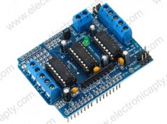 Placa tipo shield drivers para motores con chip L293D