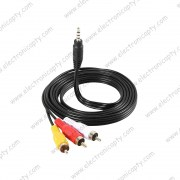 Cable RCA 1 a 3 (Plug 3.5mm a 3 RCA) 1.5M