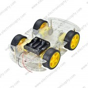 Kit Carro Robot 4 Ruedas con Motor y Porta Bateria (Car Kit)
