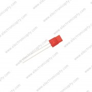 Diodo LED Rectangular Rojo 5x1x8mm