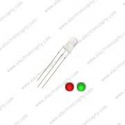 Diodo LED Bicolor (Rojo  Verde) 5mm 3 Pin Anodo Comun