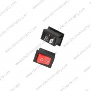 Mini Interruptor KCD1-101 Rojo ON / OFF - 2 Pin