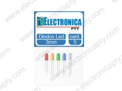 6 Diodos LED Variados 3mm